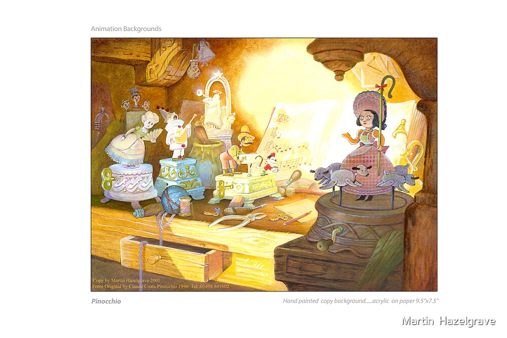 Pinocchio....Illustration copy by Martin  Hazelgrave