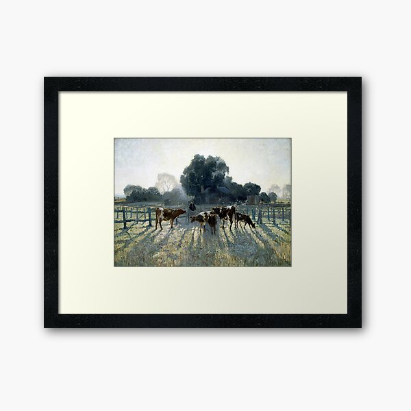 Elioth Gruner Spring Frost Framed Art Print