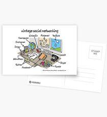 vintage social networking Postcards