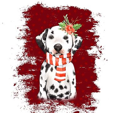 holiday dalmatian by alphabetsoup