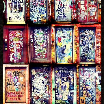 Graffiti Doors of New York City, NYC by icoNYC