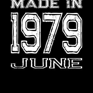 Birthday Celebration Made In June 1979 Birth Year by FairOaksDesigns