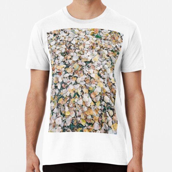 Autumn Leaves on the Ground Premium T-Shirt