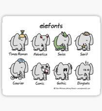 elefonts Sticker