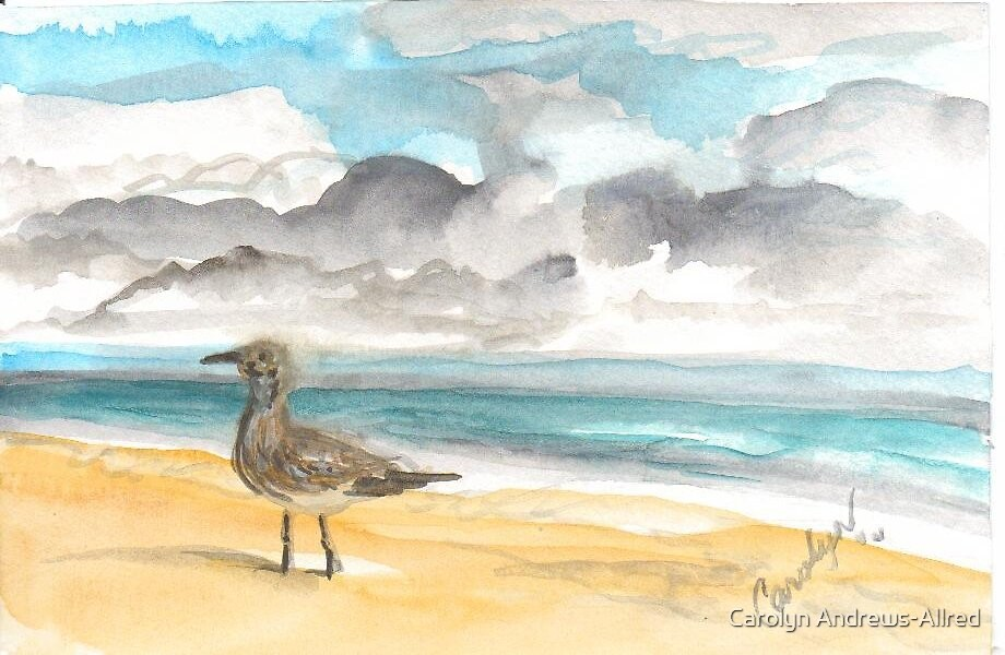 Scooting On The Beach by Carolyn Andrews-Allred