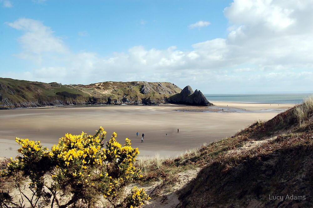 Three Cliffs Bay by Lucy Adams