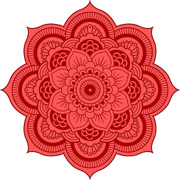 Mandala Red and Pink by studiopico