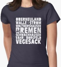 Bremen neighborhoods  Women's Fitted T-Shirt
