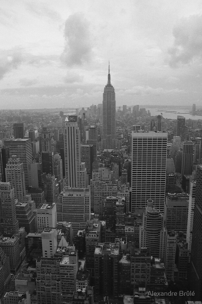 New York Skyline B&W by Alexandre Brûlé