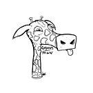 « Giraffes can't yawn » par nakiewicz
