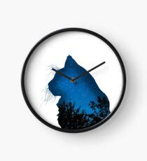 Galaxy Katze Uhr