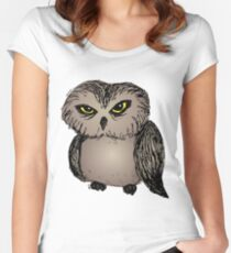 Cranky owl Women's Fitted Scoop T-Shirt