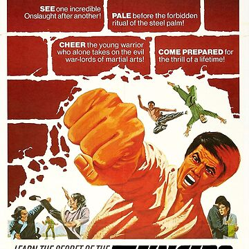 5 Fingers of Death, Kung Fu, Movie Poster by TOMSREDBUBBLE