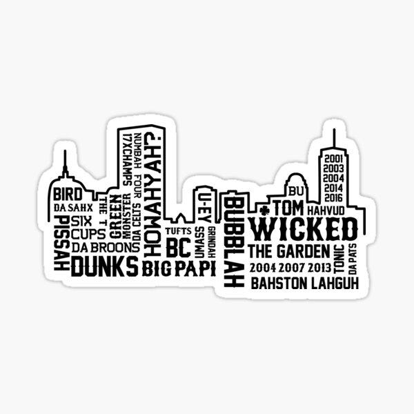 Boston Slang Sticker