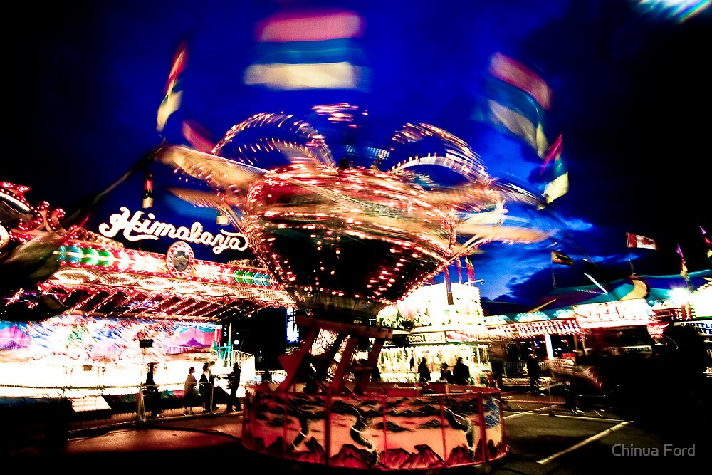 Tornado - Street Carnival Lights in BC by Chinua Ford