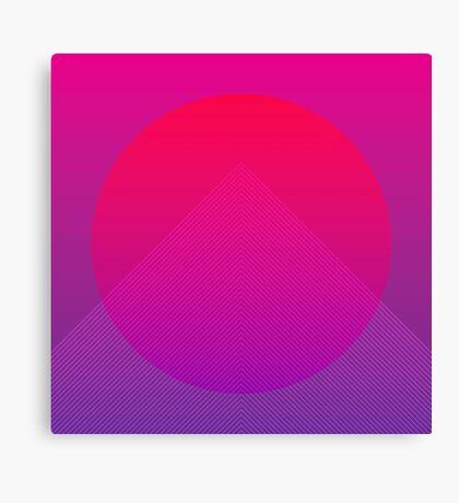 Neon Rise Canvas Print