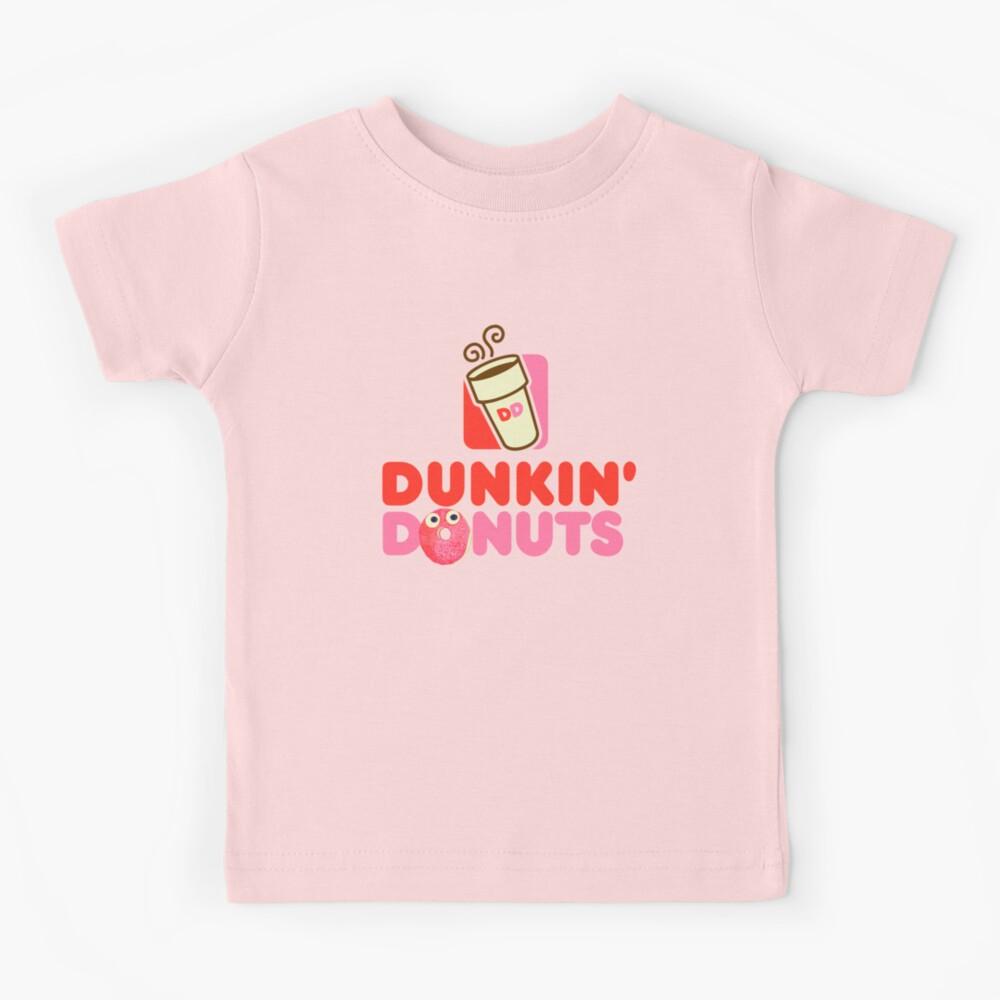 Pink logo Dunkin Donuts  Kids T-Shirt
