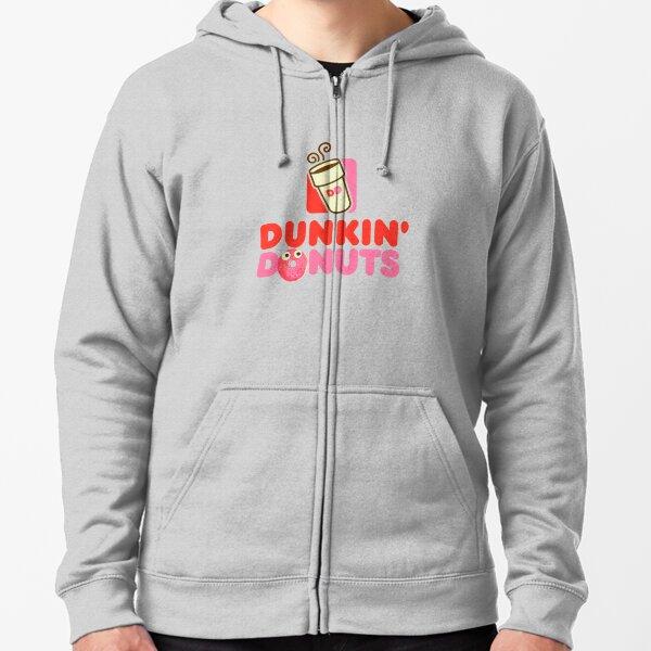 Pink logo Dunkin Donuts  Zipped Hoodie