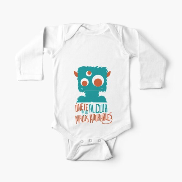 Lovable naughty guys: Monster Long Sleeve Baby One-Piece