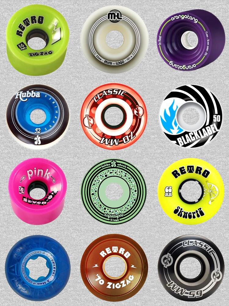 Skateboard Wheels by dinosahrus
