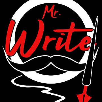 Writer Author Gift Men Mr. Write English Major by kh123856