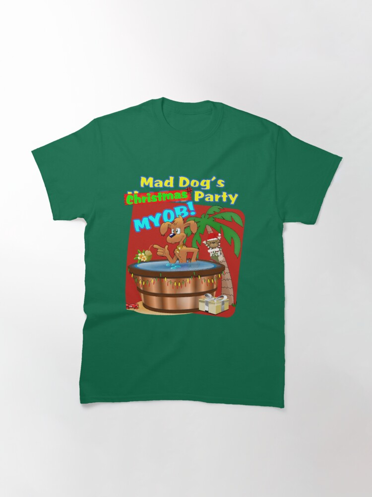 Alternate view of Mad Dog's Christmas Party Classic T-Shirt