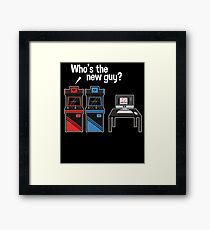 Who's The New Guy Arcade Jealousy Game Framed Print