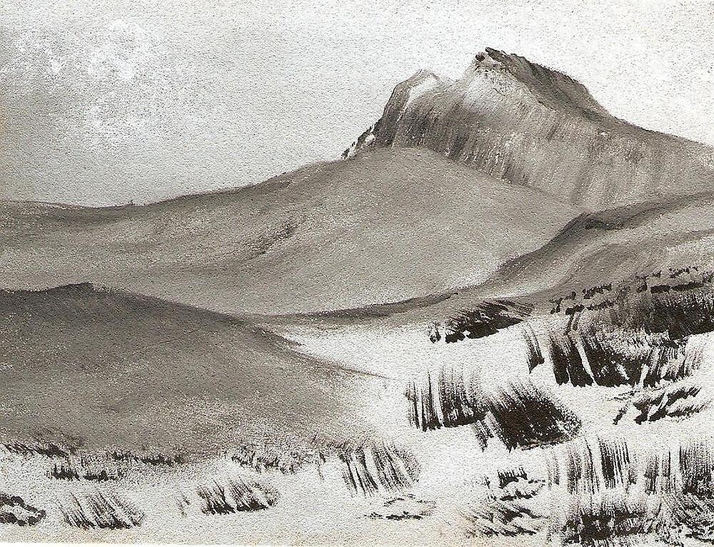 Winter at Scotts Bluff by Ginger Lovellette