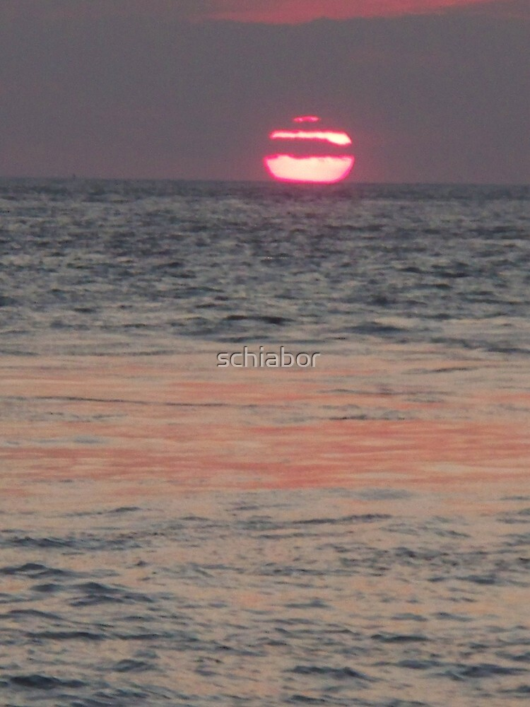 Melting of the Sun Into cool Sea  at Cape May by schiabor