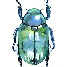 Chromatic Blue Beetle by SamNagel