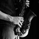 Chris' sax by shortarcasart
