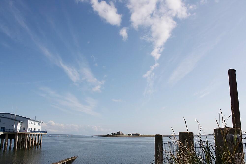 Piel Castle from Roa Island by biroballpoint