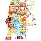 «Feliz navidad arbolado animales» de Ruta Dumalakaite
