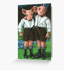 The Tweedle Brothers - fantasy oil painting Greeting Card