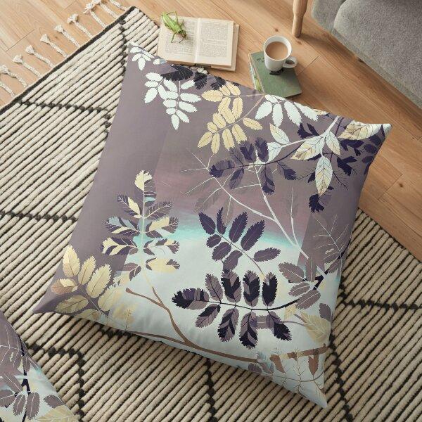 Interleaf - gray Floor Pillow