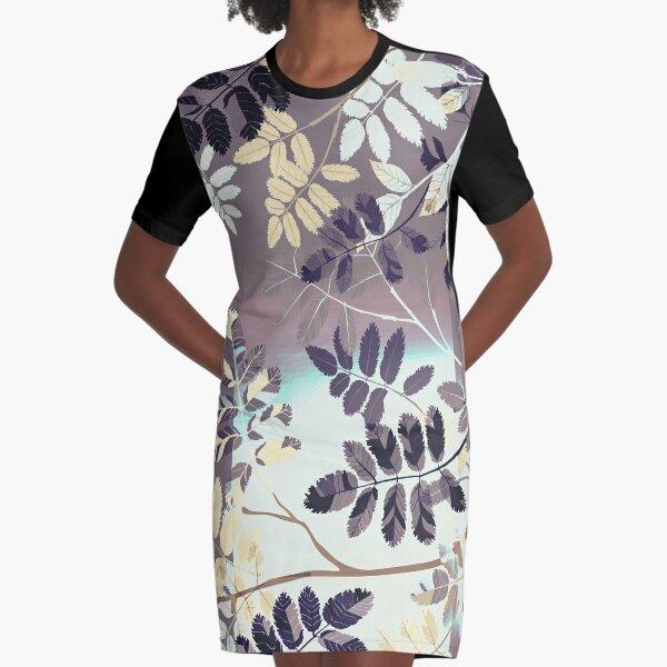 Interleaf - gray Graphic T-Shirt Dress