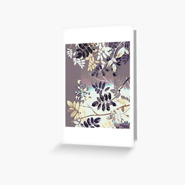 Interleaf - gray Greeting Card