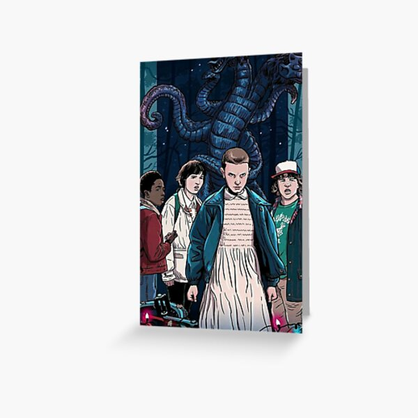 Stranger Things Final Scene (Eleven) Merch Greeting Card