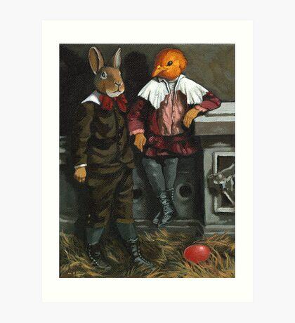 Friends - fantasy oil painting Art Print