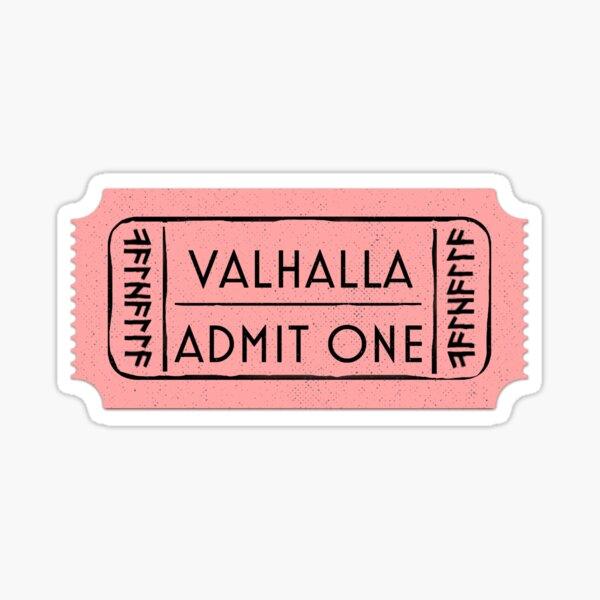 Billet d'admission Valhalla Sticker
