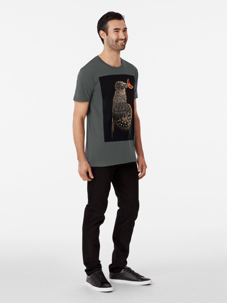 Alternative Ansicht von Goldener Rabe Premium T-Shirt
