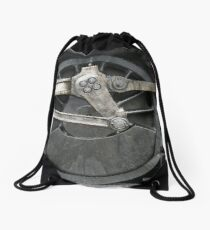 train wheels Drawstring Bag