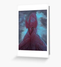 Red Wyvern Greeting Card