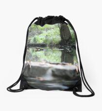Sidecut Metropark Canal Lock Reflection  Drawstring Bag