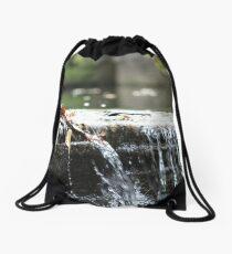 Sidecut Metropark Canal Lock Waterfall  Drawstring Bag