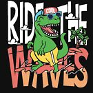Cool dino ,ride the wave by sager4ever