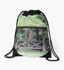 Moss Covered Gazebo Drawstring Bag