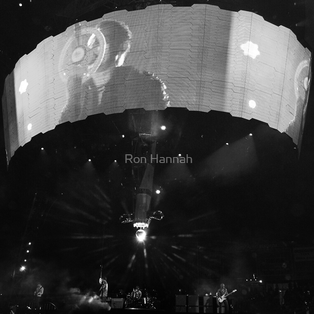 U2 Ultraviolet in Black & White by Ronald Hannah