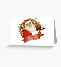 Nicolas Cage Christmas Jolly Old Saint Nic Greeting Card