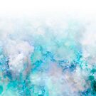 Fresh Blue and Aqua Ombre Frozen Marble Art #abstractart  by Dominiquevari